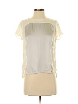 White House Black Market Short Sleeve Silk Top Size 2