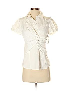 INC International Concepts Short Sleeve Button-Down Shirt Size 2