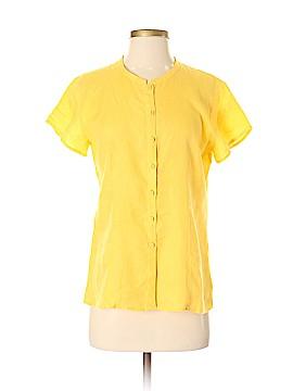 Eileen Fisher Short Sleeve Button-Down Shirt Size XS