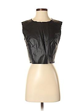 Lucy Paris Faux Leather Top Size M