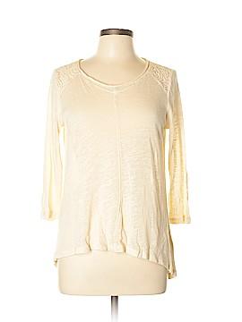 Cynthia Rowley TJX 3/4 Sleeve Top Size L