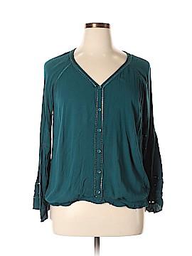 American Rag Cie Long Sleeve Blouse Size 1X (Plus)