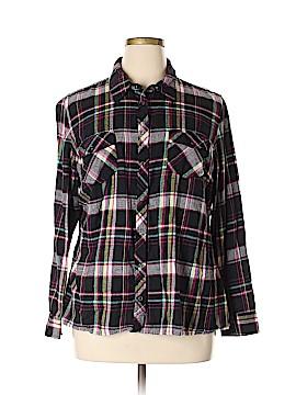 Arizona Jean Company Long Sleeve Button-Down Shirt Size 1X (Plus)