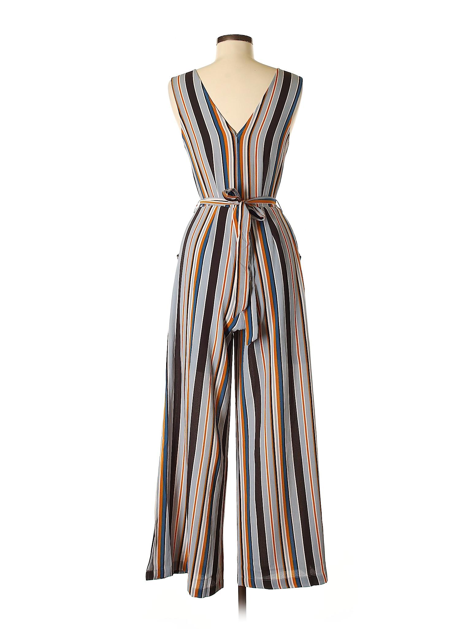 a42ca1ee394 Monteau 100% Polyester Stripes Light Blue Jumpsuit Size M - 40% off ...