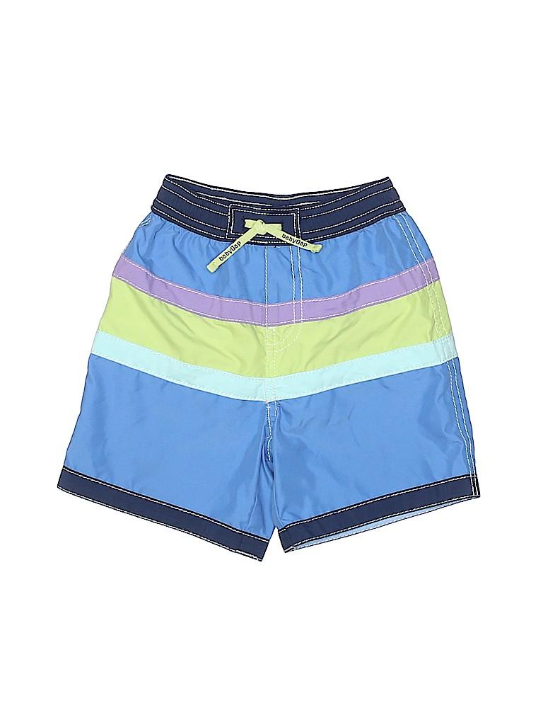 3175338ba7 Baby Gap 100% Polyester Stripes Navy Blue Board Shorts Size 12-18 mo ...