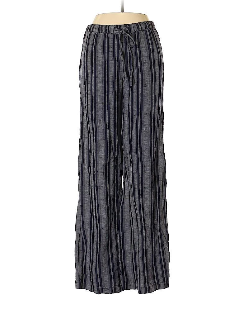 7ae01dbd210 Merona Stripes Dark Blue Linen Pants Size XS - 63% off