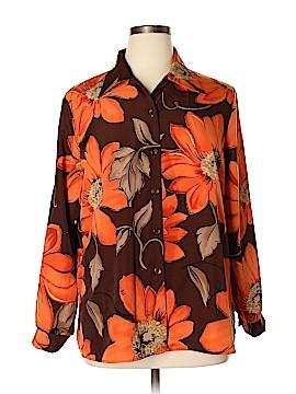Fashion Bug Long Sleeve Button-Down Shirt Size 14 - 16