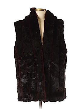 Suzanne Somers Faux Fur Vest Size M