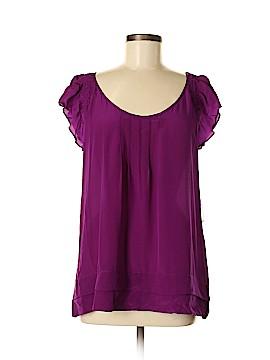 Petticoat Alley Short Sleeve Silk Top Size M
