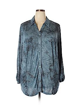 Avenue Long Sleeve Button-Down Shirt Size 30 - 32 Plus (Plus)