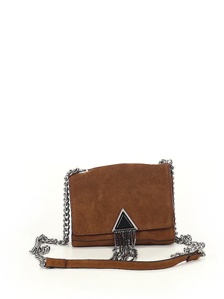 0ee6f4b19e Zara Brown Leather Crossbody Bag