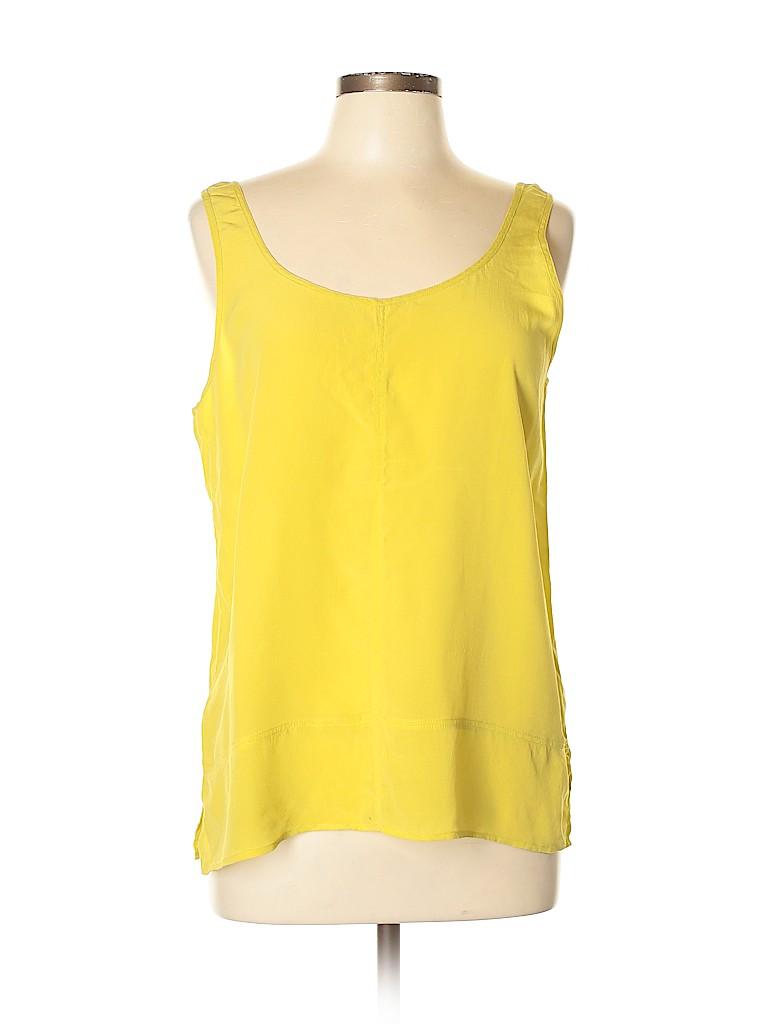 Club Monaco Women Sleeveless Silk Top Size L
