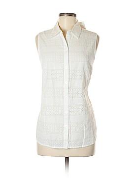 Croft & Barrow Sleeveless Button-Down Shirt Size M