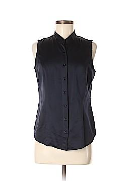 Bill Blass Sleeveless Button-Down Shirt Size M