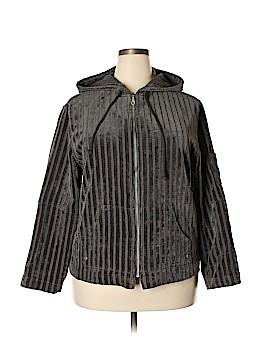 LARRY LEVINE for Dressbarn Zip Up Hoodie Size 1X (Plus)
