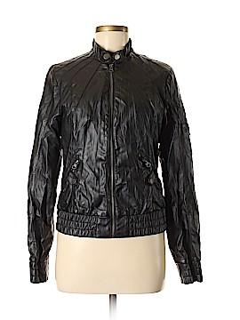 Black Poppy Faux Leather Jacket Size M