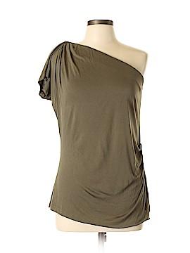 Diane von Furstenberg Short Sleeve Silk Top Size XL