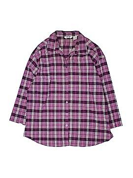 Krazy Kat 3/4 Sleeve Button-Down Shirt Size 1X (Plus)