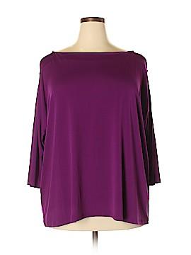 INC International Concepts 3/4 Sleeve Top Size 3X (Plus)