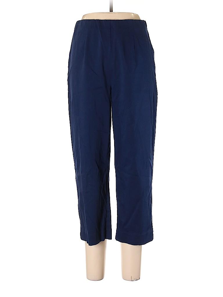 Susan Graver Solid Dark Blue Khakis Size L 75 Off Thredup