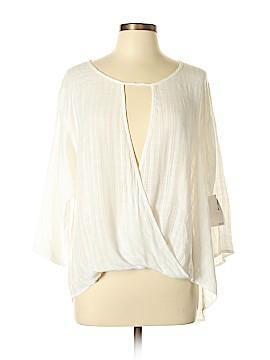 Free Press 3/4 Sleeve Blouse Size L