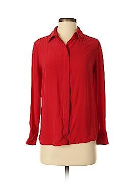 Grana Long Sleeve Silk Top Size S
