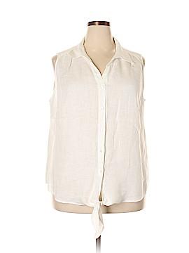 Talbots Sleeveless Button-Down Shirt Size 2X (Plus)