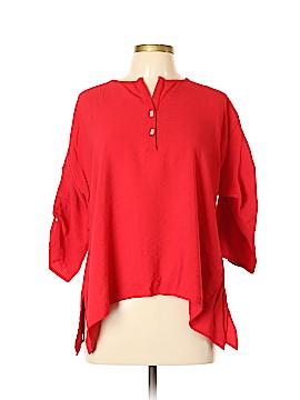 Joseph Ribkoff 3/4 Sleeve Button-Down Shirt Size 10