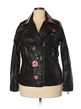 XOXO Faux Leather Jacket Size XXL