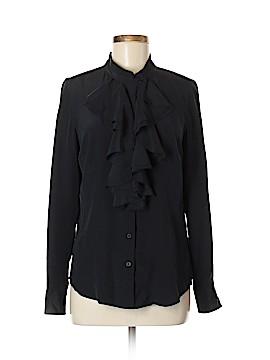 Isaac Mizrahi Long Sleeve Silk Top Size 6