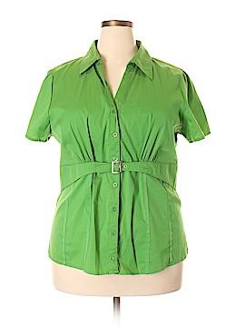 Antilia Femme Short Sleeve Button-Down Shirt Size 3X (Plus)