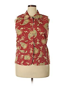 Coldwater Creek Sleeveless Button-Down Shirt Size L