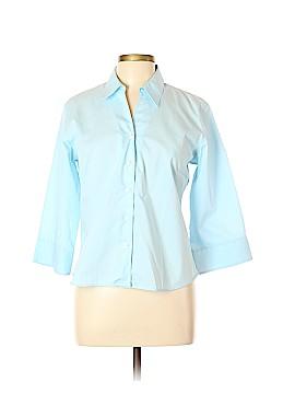 Lands' End 3/4 Sleeve Button-Down Shirt Size 14