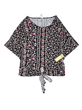 Perseption Concept Short Sleeve Blouse Size L