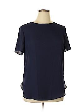 Pink Rose Short Sleeve Blouse Size XL