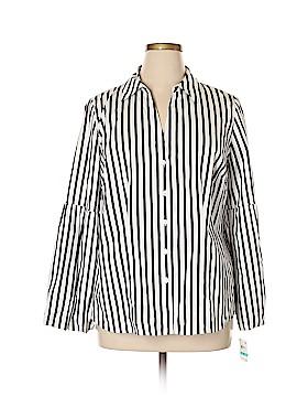 INC International Concepts Long Sleeve Button-Down Shirt Size 0X (Plus)
