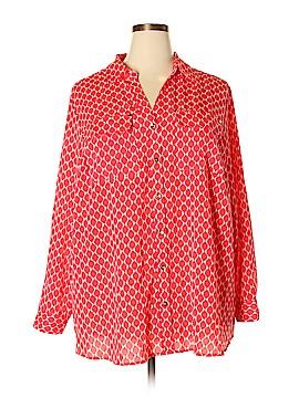 Charter Club Long Sleeve Blouse Size 3X (Plus)