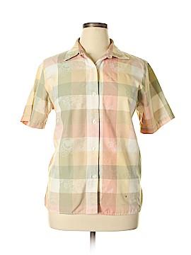Alfred Dunner Short Sleeve Button-Down Shirt Size 16