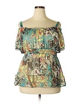 American Rag Cie Short Sleeve Blouse Size 1X (Plus)