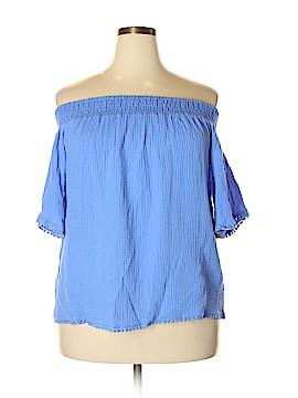 RACHEL Rachel Roy Short Sleeve Blouse Size L