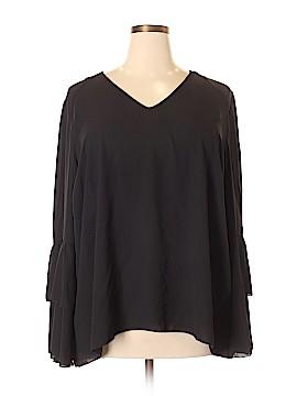 Seven7 Long Sleeve Blouse Size 3X (Plus)