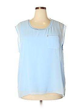 Calvin Klein Short Sleeve Blouse Size 1X (Plus)