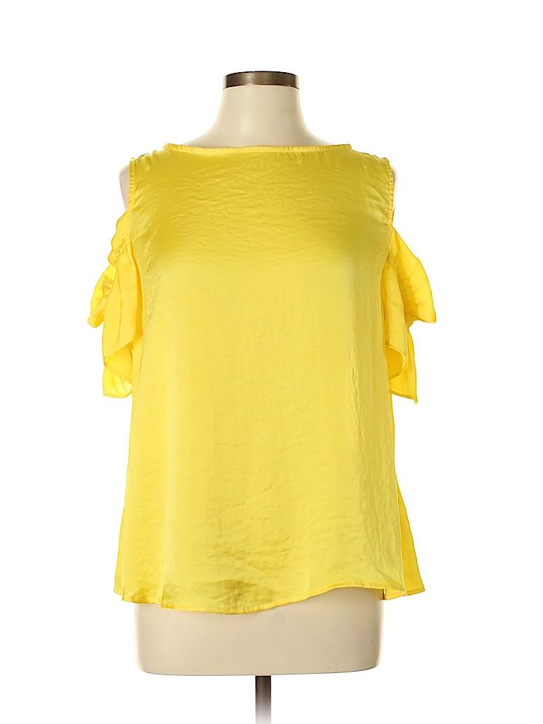 Harlowe & Graham Women Short Sleeve Blouse Size L