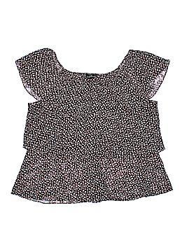 Willi Smith Short Sleeve Blouse Size XL