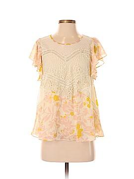 HD in Paris Short Sleeve Blouse Size 4