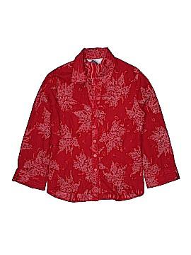 Fred David 3/4 Sleeve Button-Down Shirt Size L