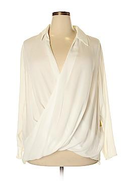 RACHEL Rachel Roy Long Sleeve Blouse Size 18w (Plus)