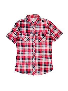Bella D Short Sleeve Button-Down Shirt Size M