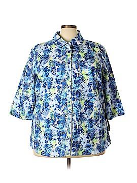 Breckenridge Short Sleeve Button-Down Shirt Size 3X (Plus)