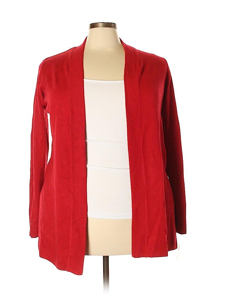 Karen Scott Women Cardigan Size 1X (Plus)
